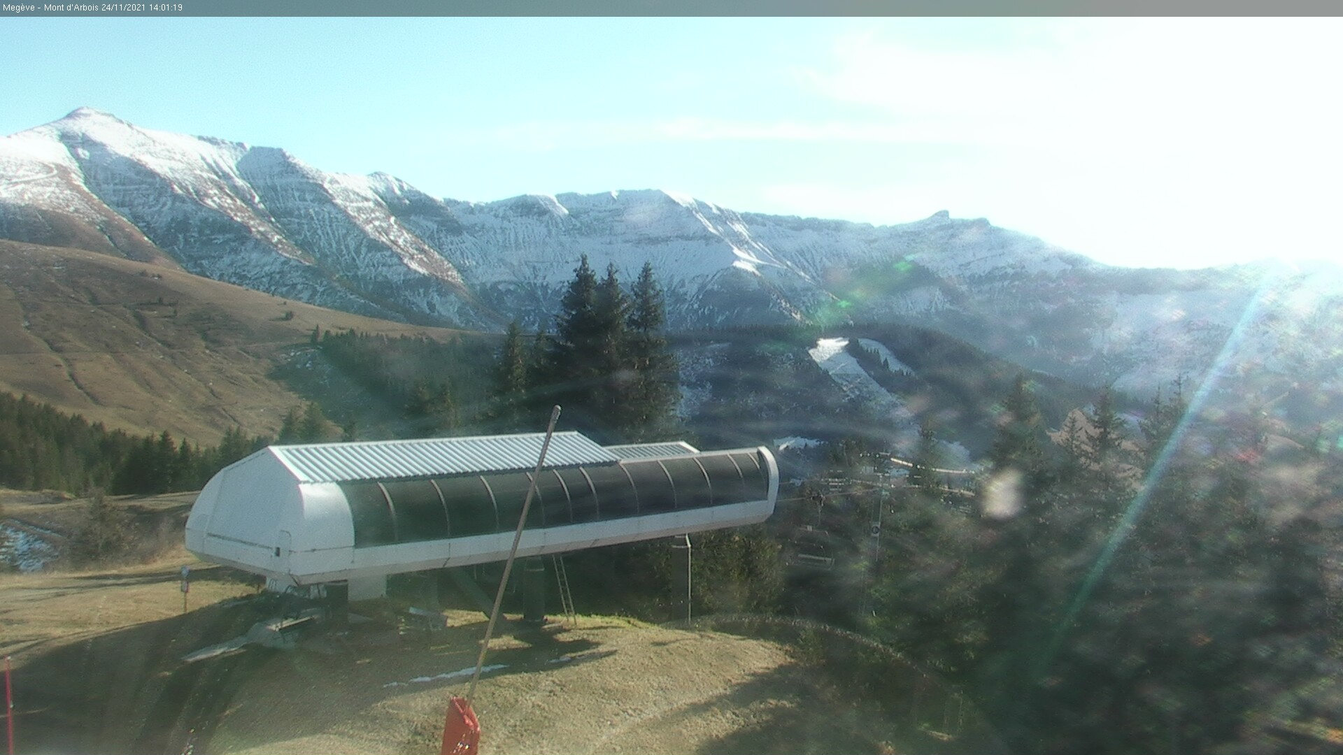 The top station of L'Ideal Chairlift