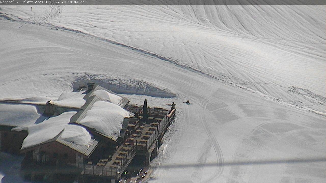 Webkamera Les Trois Vallées - ledovec Mont de Peclet