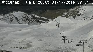Webcam vue sur la piste Camille Ricou d'Orcières Merlette