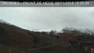 Webcam front de neige à Orcières Merlette