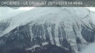 Webcam plateau de Rocherousse à Orcières Merlette