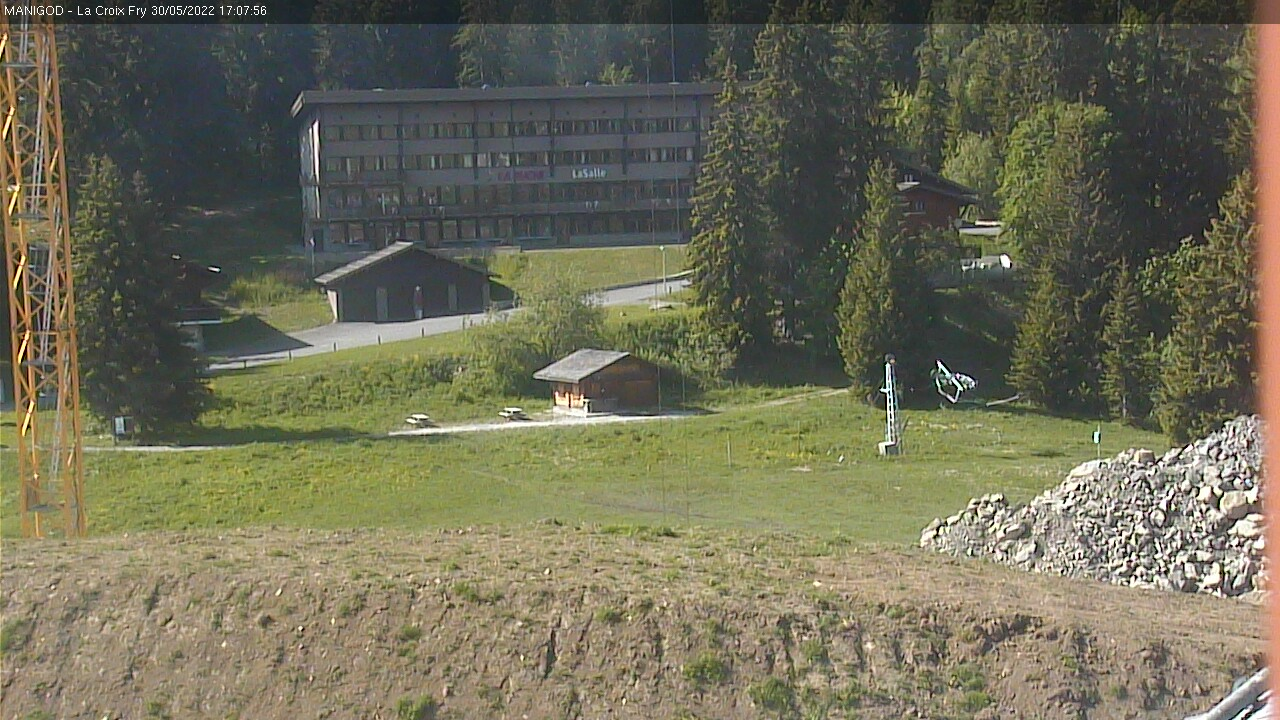 Croix Fry Webcam — Manigod, La Clusaz station de ski, France