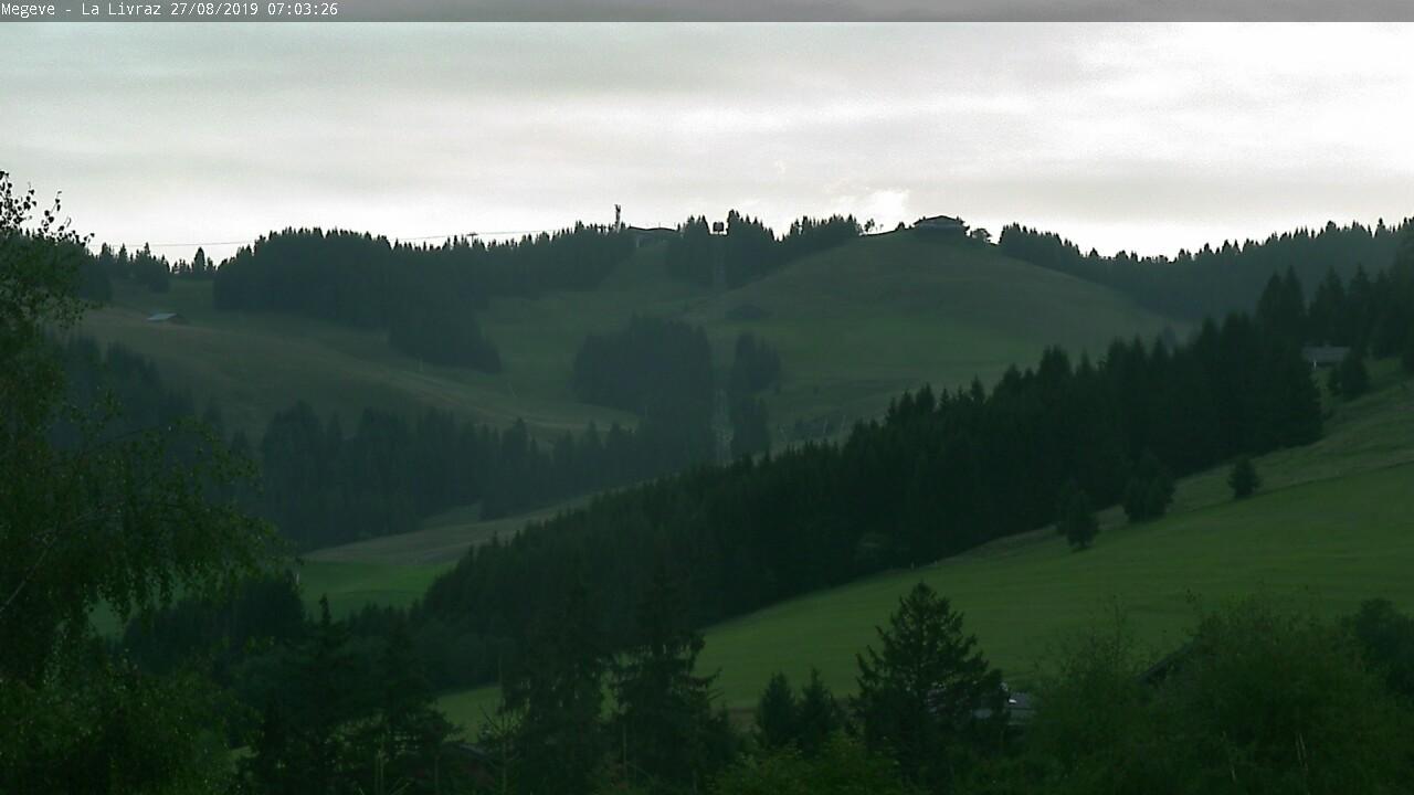 Webcam en Mont d´Arbois, Megève (Alpes Franceses)