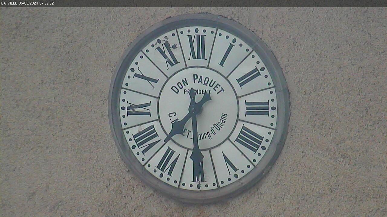 Image depuis la caméra de St Christophe en Oisans