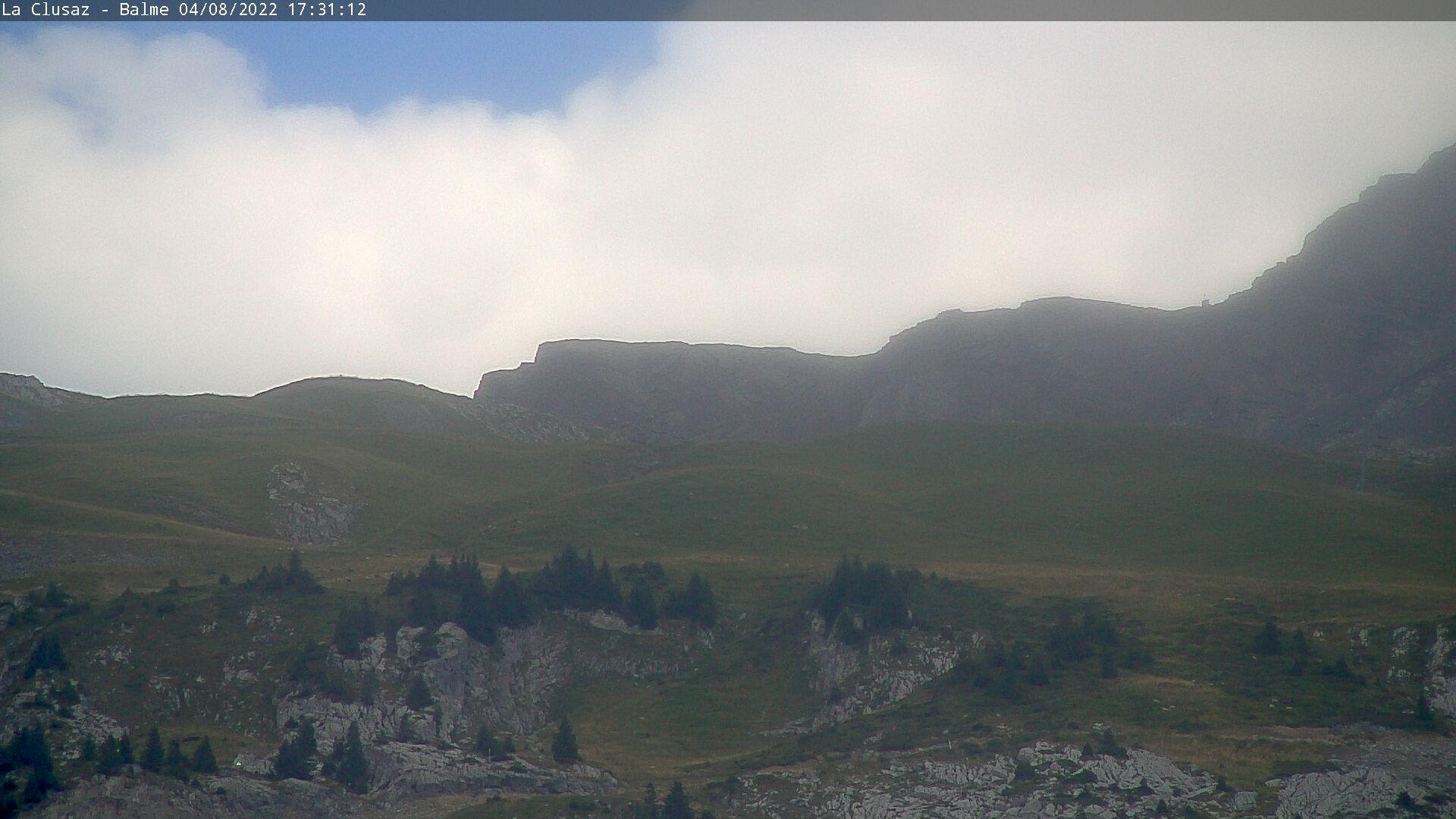 La Clusaz webcam showing La Balme and La Bergerie